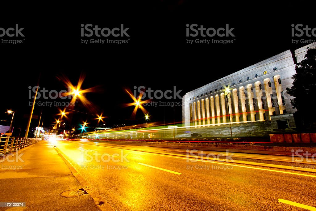 Parliament House Helsinki Finland stock photo