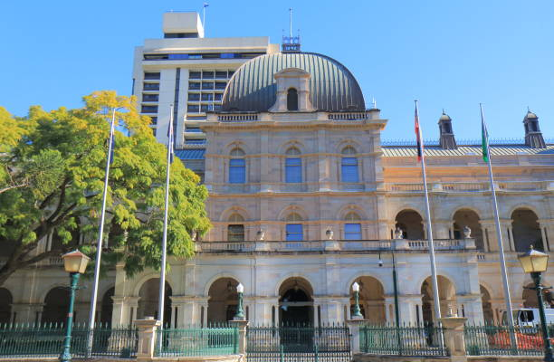 Parliament House historical architecture Brisbane Australia stock photo
