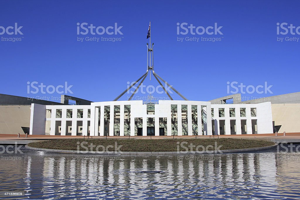 Parliament House in Canberra stock photo