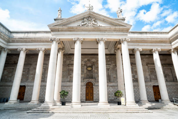 Parliament House in Dublin, Ireland stock photo