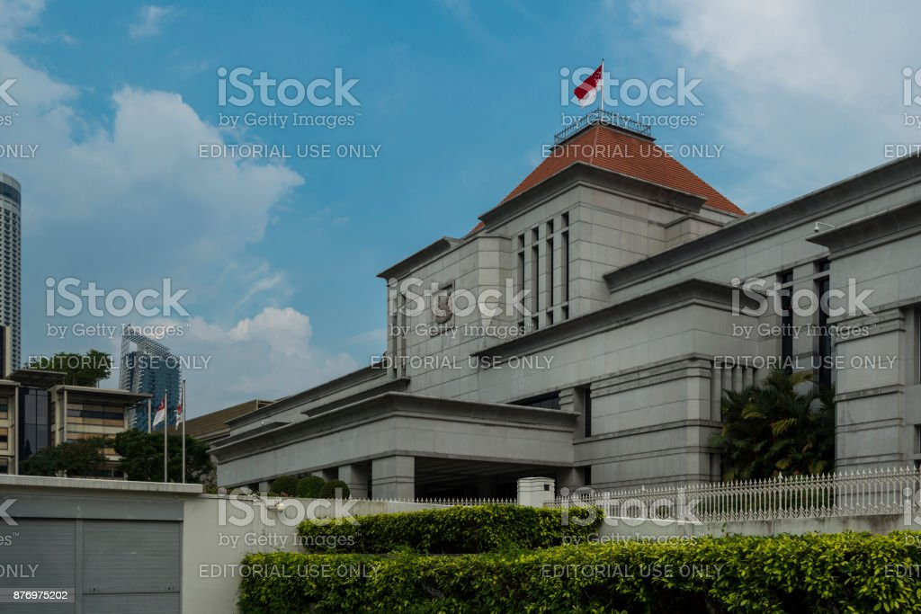 Parliament House of Singapore in Central Singapore stock photo