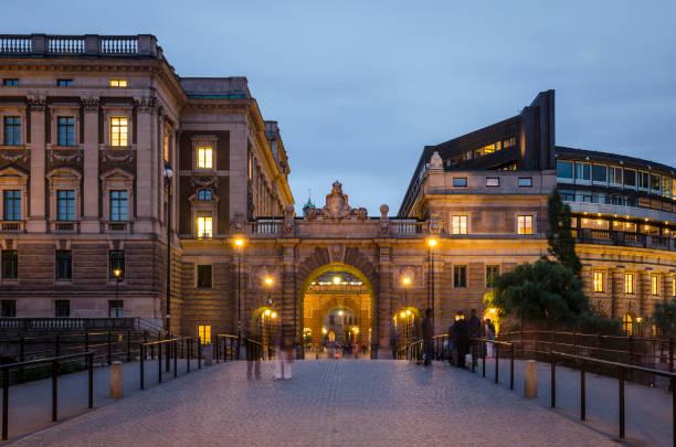 Parliament House, Stockholm stock photo
