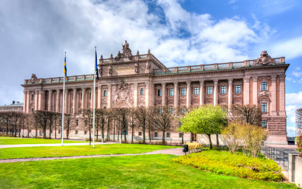 Parlamentet (riksdagen), Stockholm, Sverige bildbanksfoto