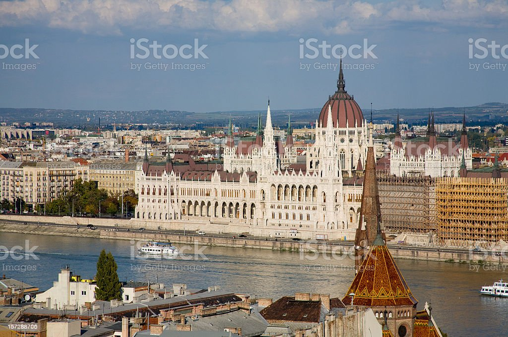 Parliament in Budapest royalty-free stock photo