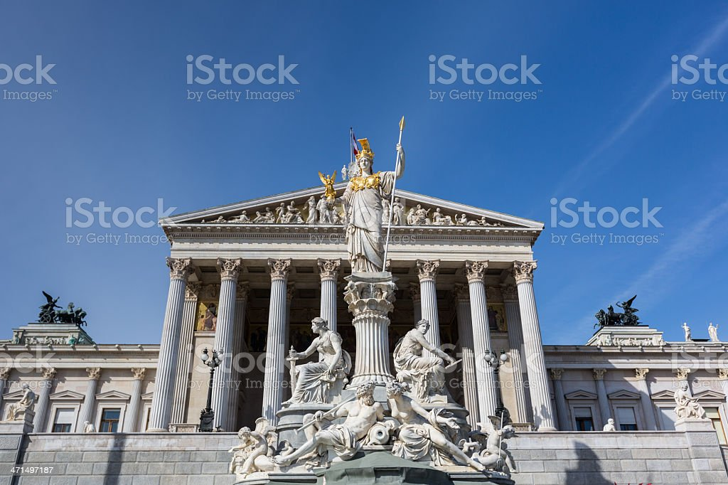 Parliament in Wien royalty-free stock photo