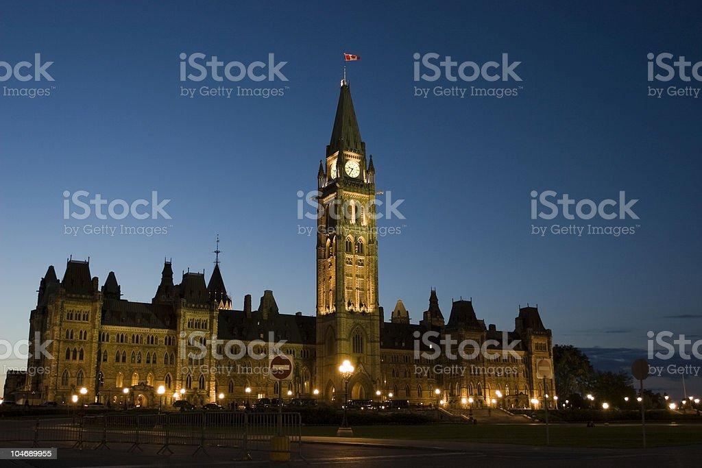 Parliament Night stock photo
