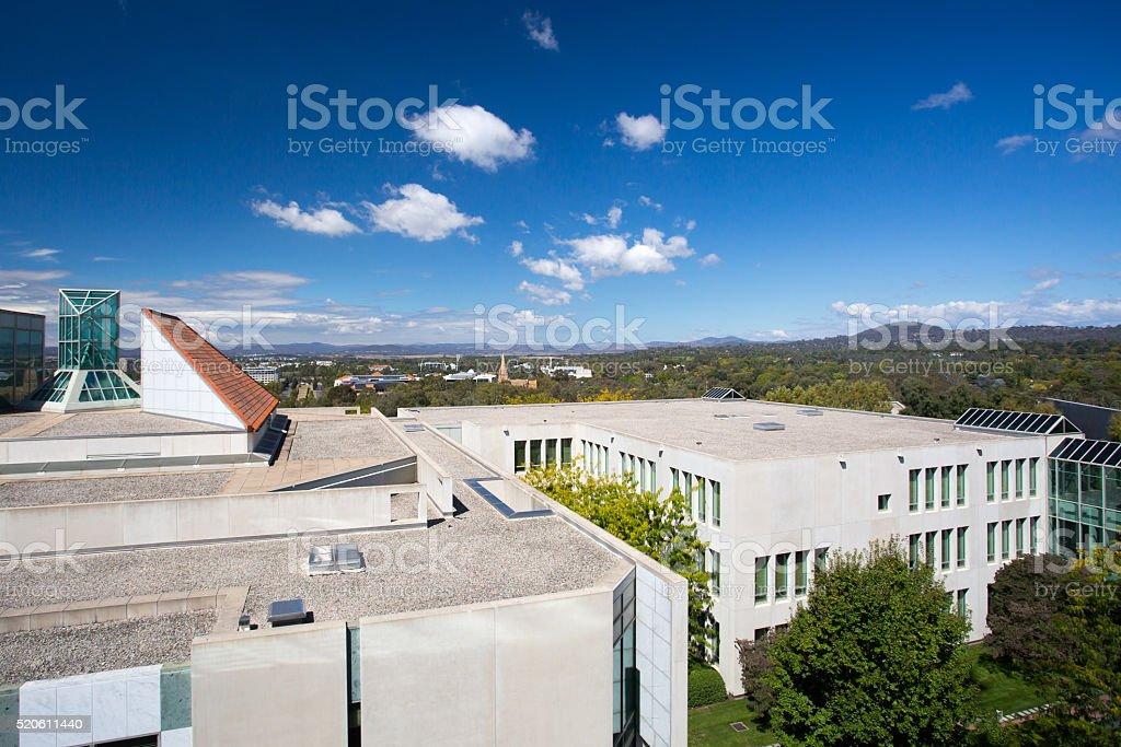 Parliament of Australia stock photo