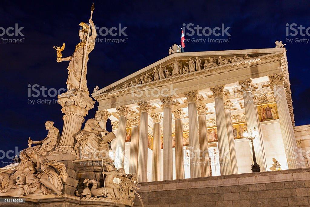 Parliament of Austria in Vienna stock photo