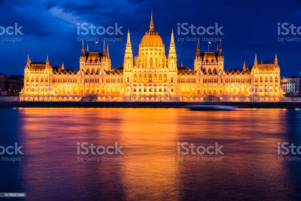 Parliament of Budapest, Hungary stock photo