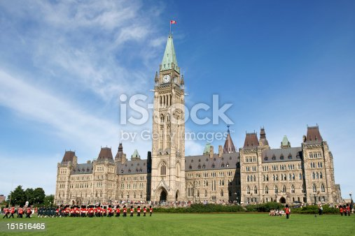 Changing of the guard at the Parliament of Canada in Ottawa