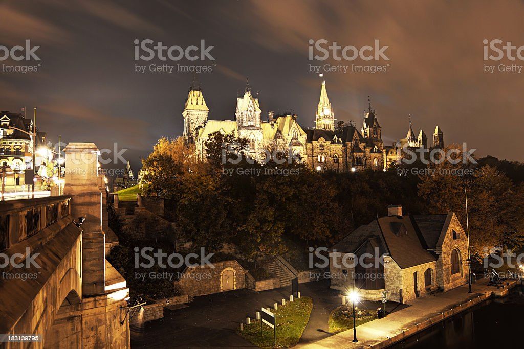 Parliament of Canada royalty-free stock photo