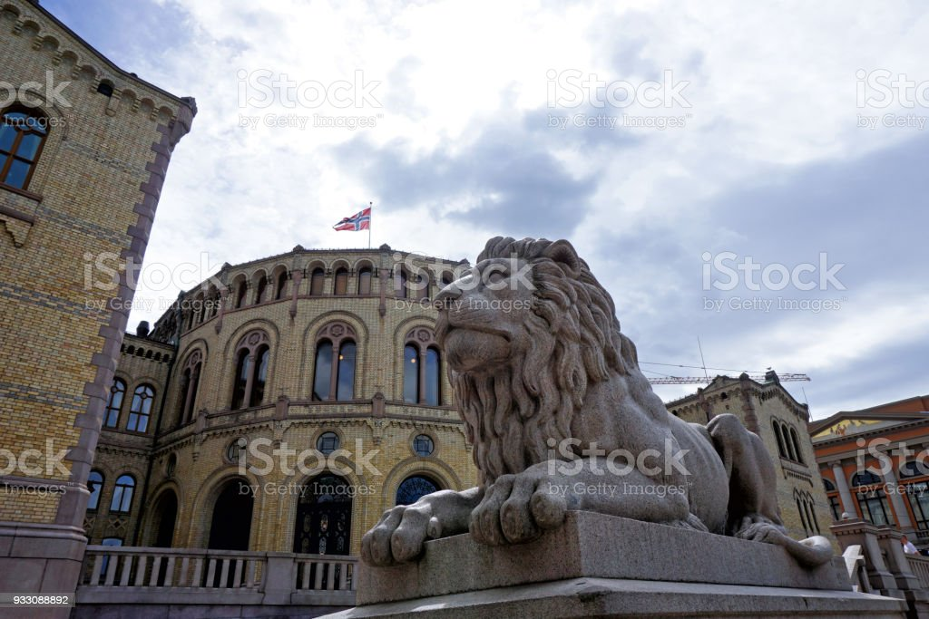 Parliament of Norway, Oslo stock photo