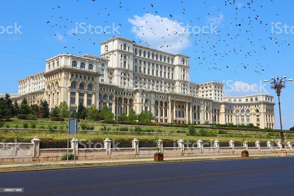 Parliament of Romania stock photo