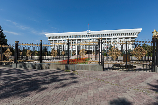 istock Parliament (Supreme Council) of the Kyrgyz Republic. Bishkek 499842370