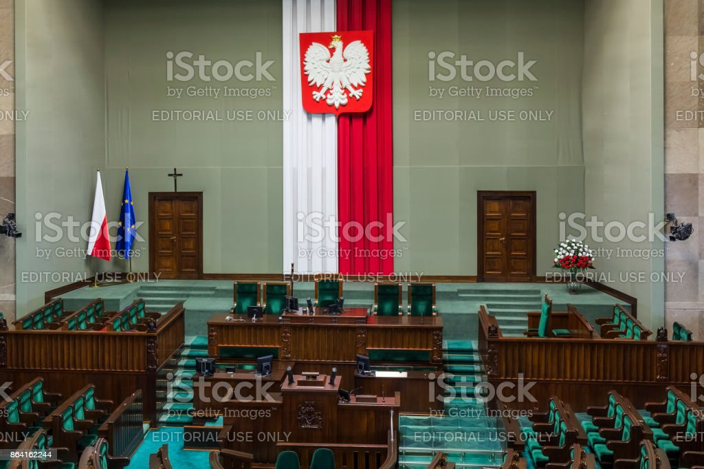 Parliament of the Poland Republic royalty-free stock photo