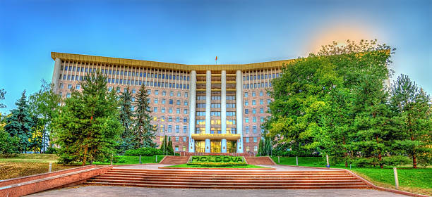 parliament of the republic of moldova in chisinau - moldova stock pictures, royalty-free photos & images