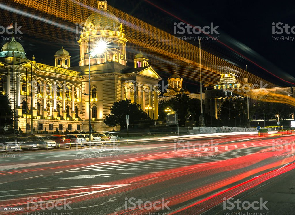 Parliament of the republic of Serbia stock photo