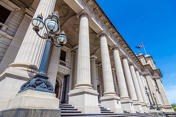 parliament of victoria , melbourne , australia - victoria australia foto e immagini stock