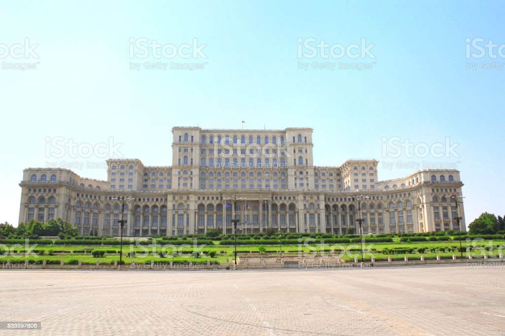 Parliament Palace (The People's House), Bucharest, Romania stock photo