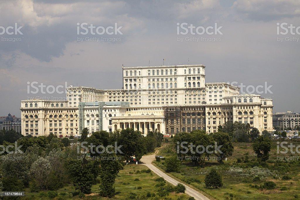 Parliament Palace or Palatul Parlamentului stock photo