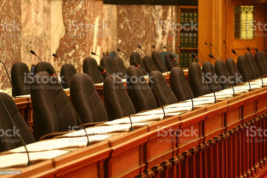 parliament seating stock photo