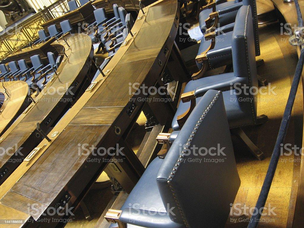 Parliamentary Seating stock photo