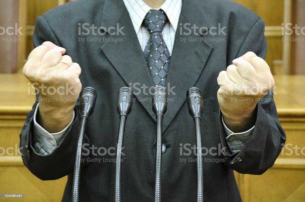 parliamentary speech stock photo