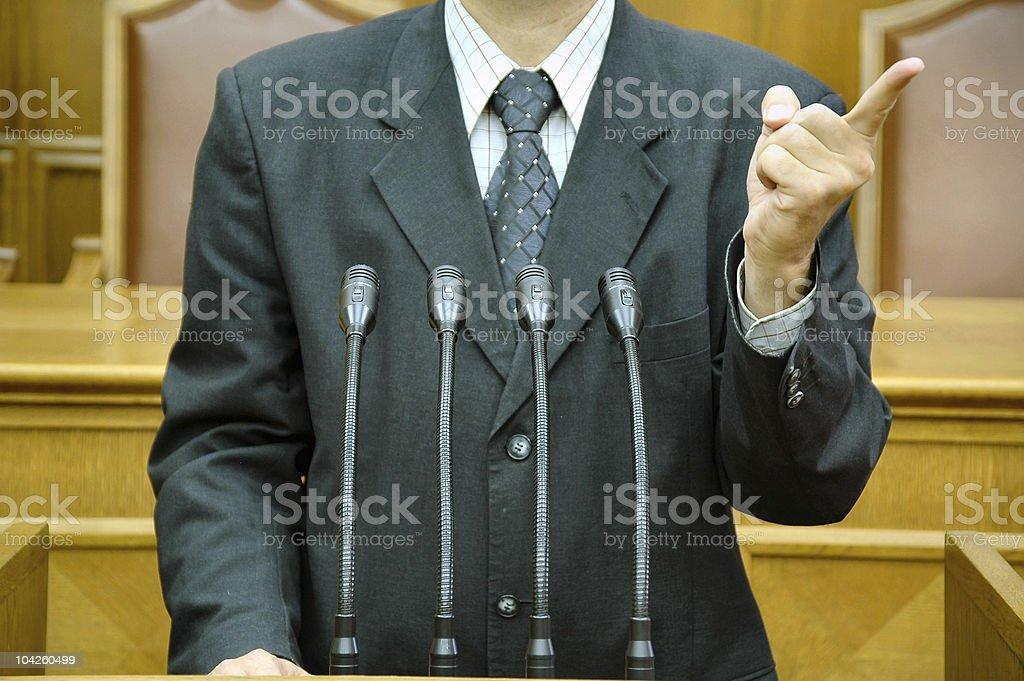 parliamentary speech royalty-free stock photo