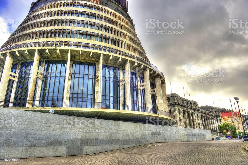 NZ Parliment Buildings stock photo