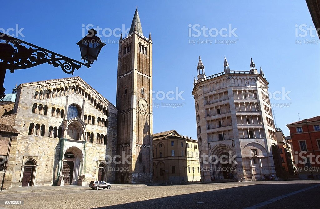 Parma (Italy), Cathedral Square stock photo