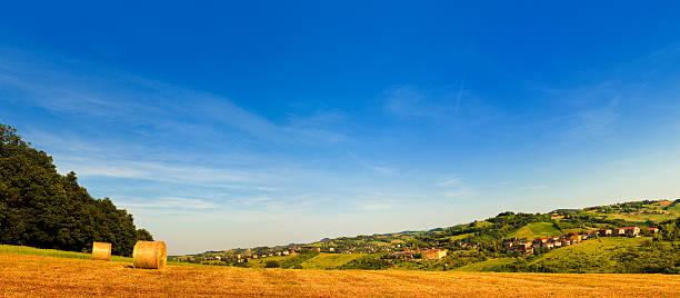 Parma fields panorama stock photo
