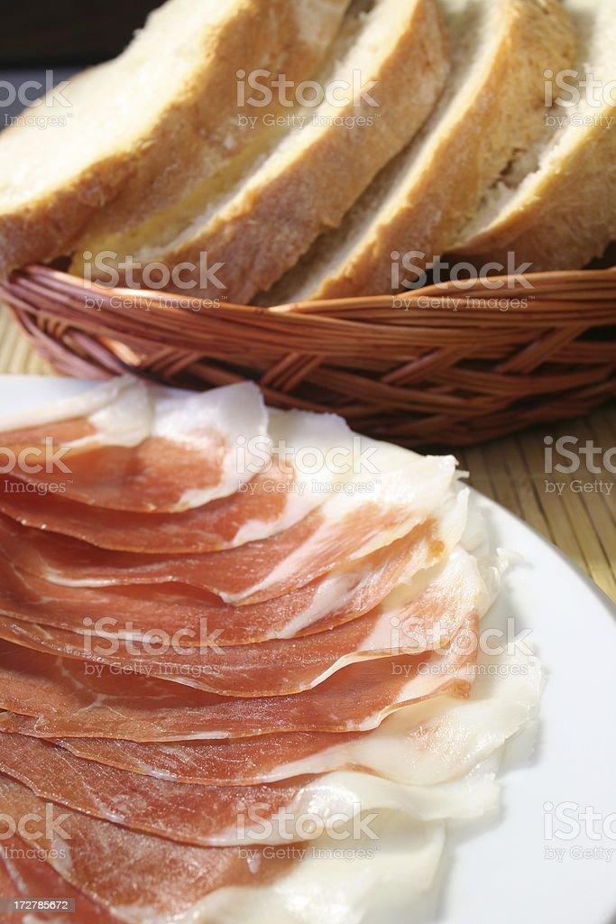 Parma Ham royalty-free stock photo