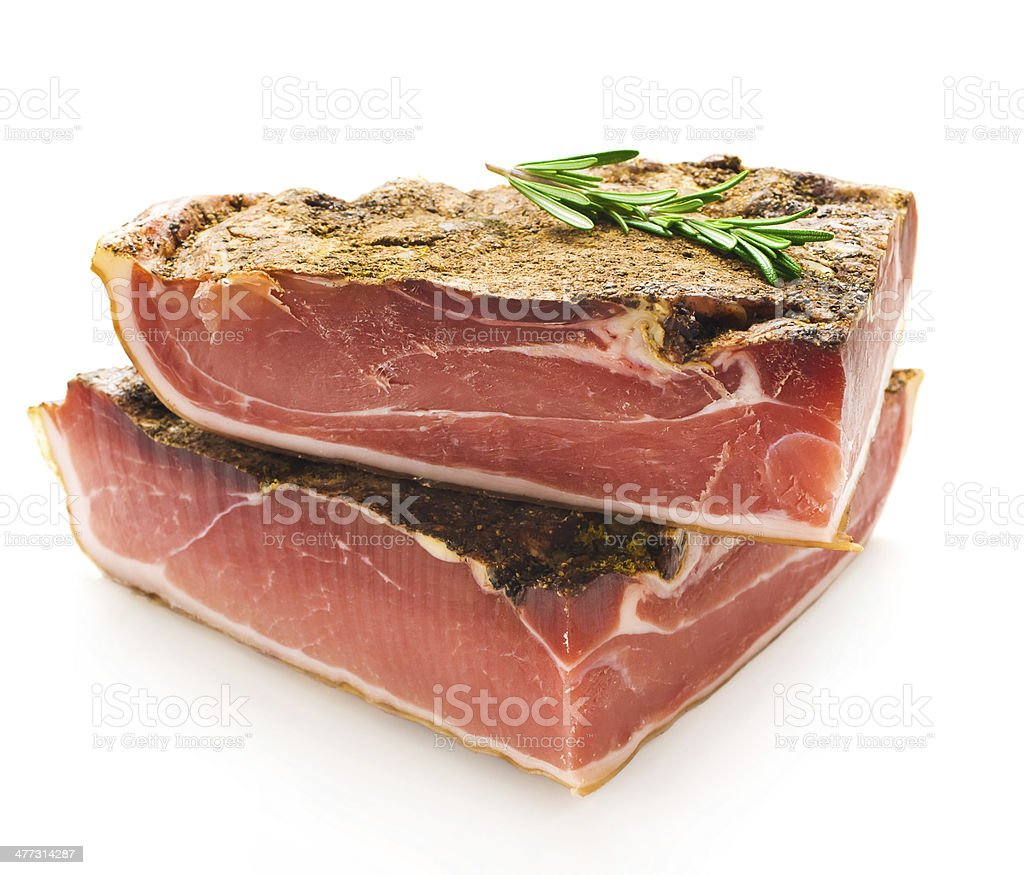 parma ham stock photo