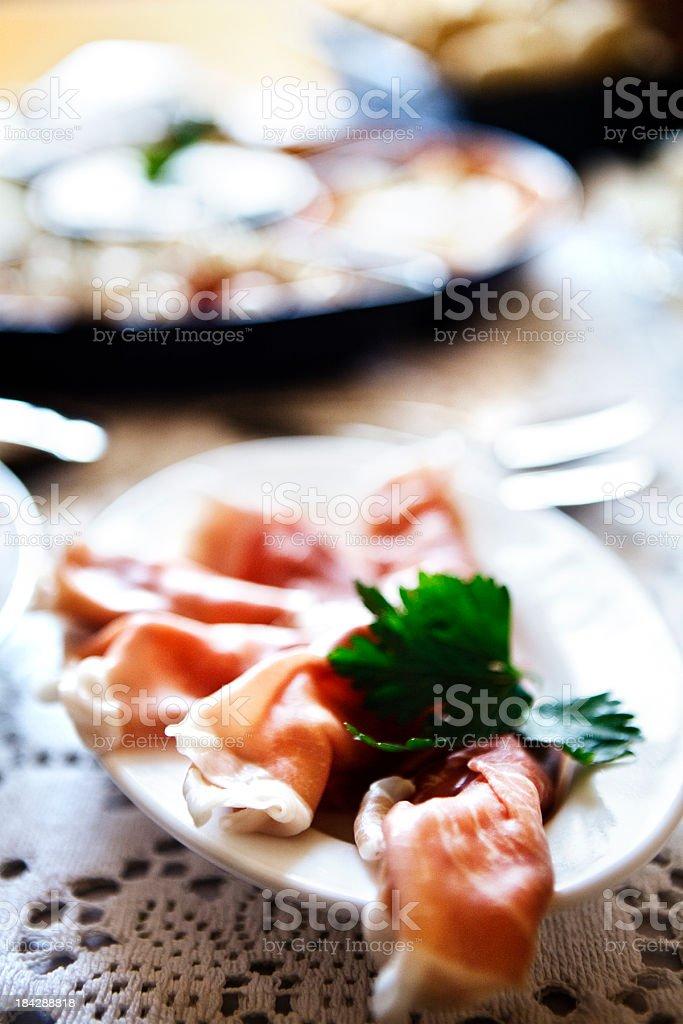 Parma Ham Platter royalty-free stock photo
