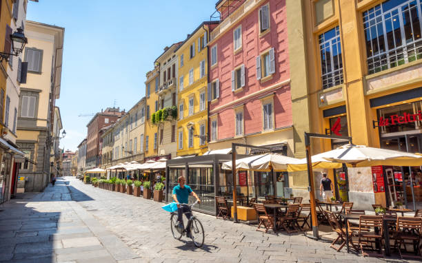 Parma old town stock photo