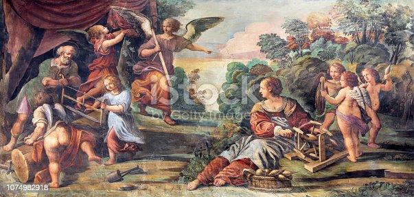 Parma -  The fresco The Circumcision of Jesus in Duomo by Lattanzio Gambara (1567 - 1573).