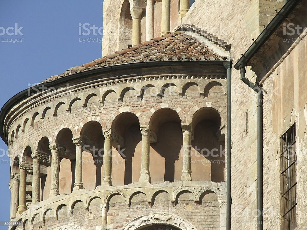 Parma-Italy-Romanesque Architecture royalty-free stock photo