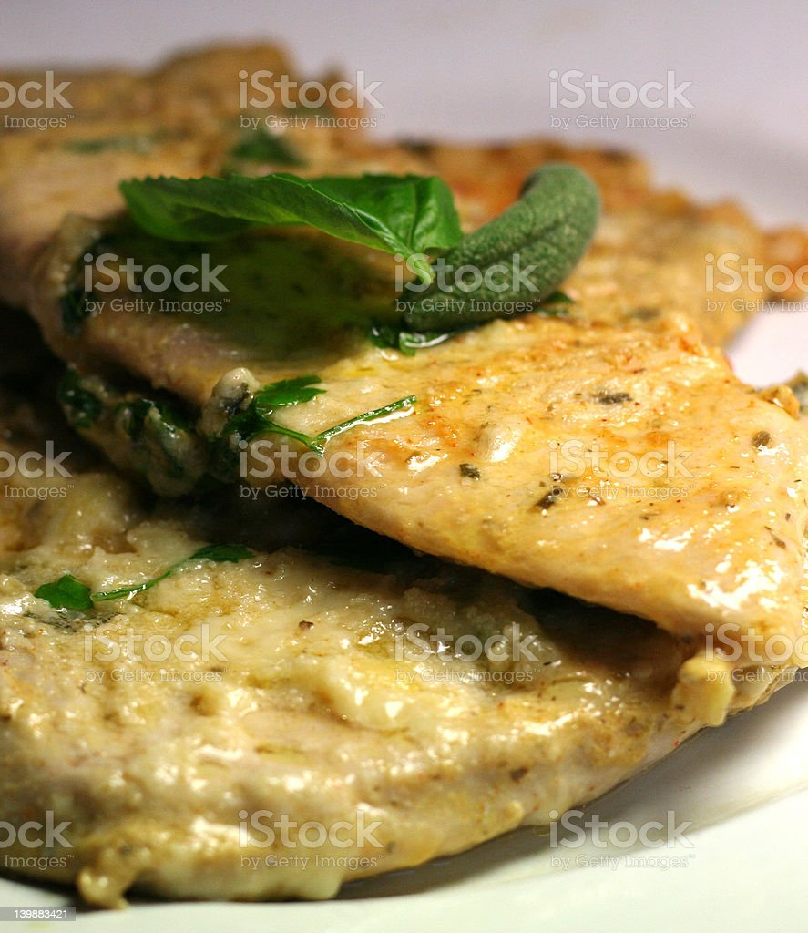 parmesan coated veal royalty-free stock photo