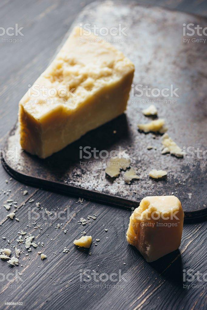 Parmesan, Typical Italian Cheese - Studio Macro Shooting stock photo