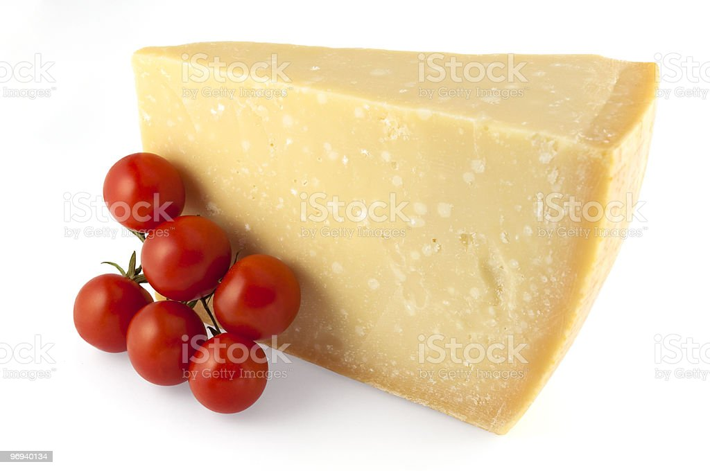parmigiano and tomato royalty-free stock photo