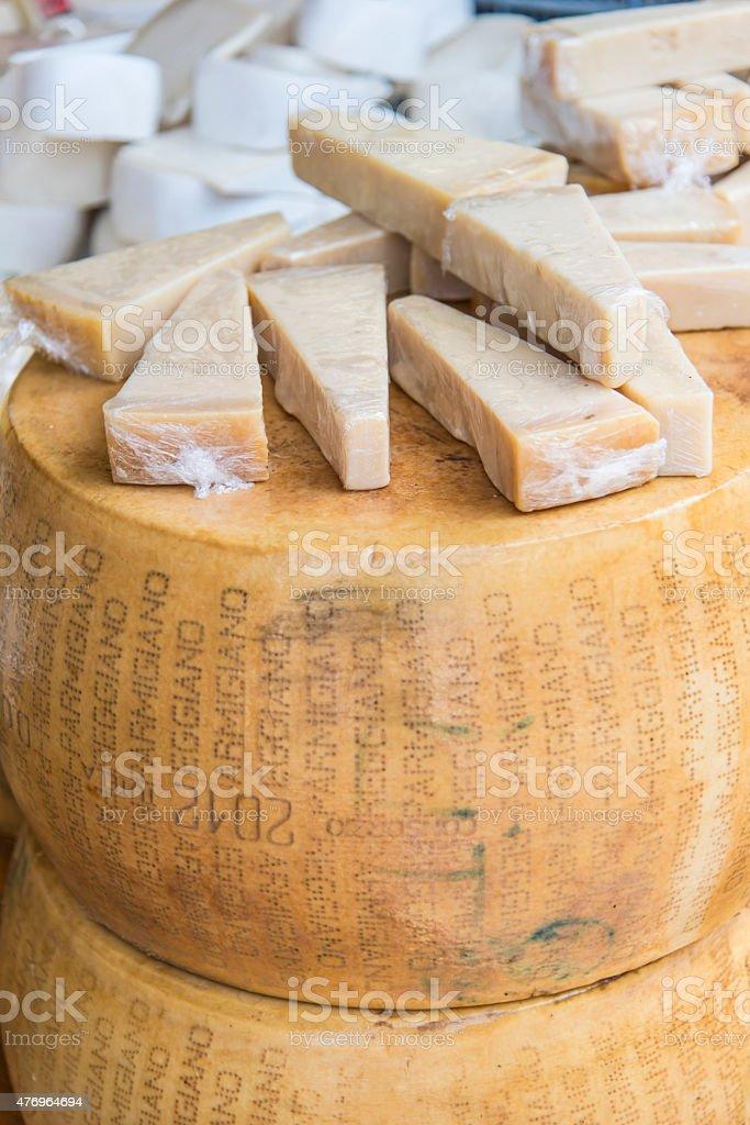 Parmigiano Reggiano cheese stock photo