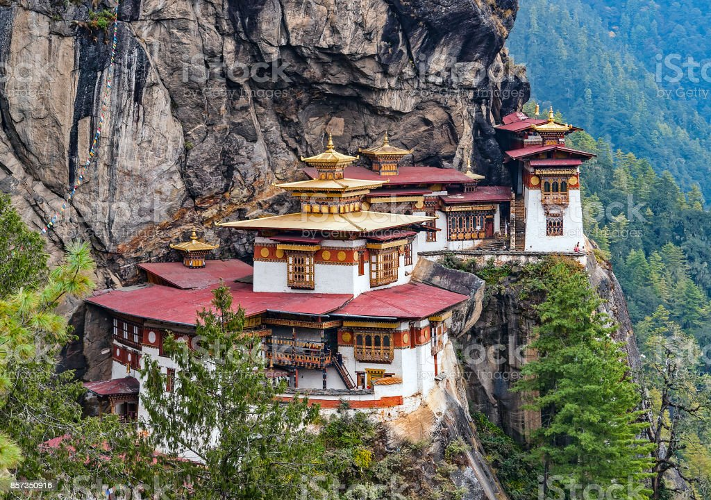 Paro Taktsang: The Tiger's Nest Monastery - Bhutan stock photo