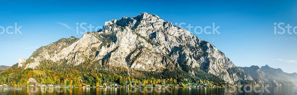 Parorama of Traunstein Mountain stock photo