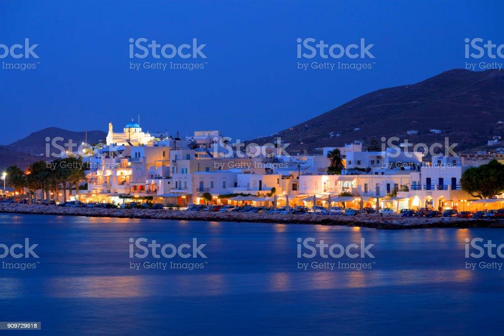Paros in der Nacht, Griechenland – Foto