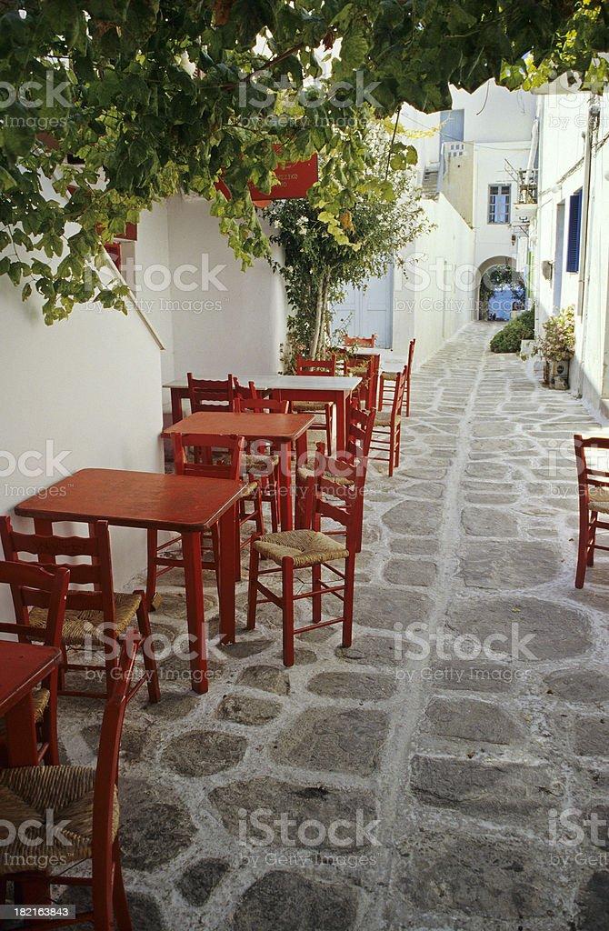 Paros Street Scene royalty-free stock photo