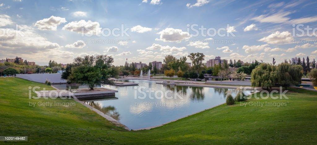 Parque Central Park Lake - Mendoza, Argentina stock photo