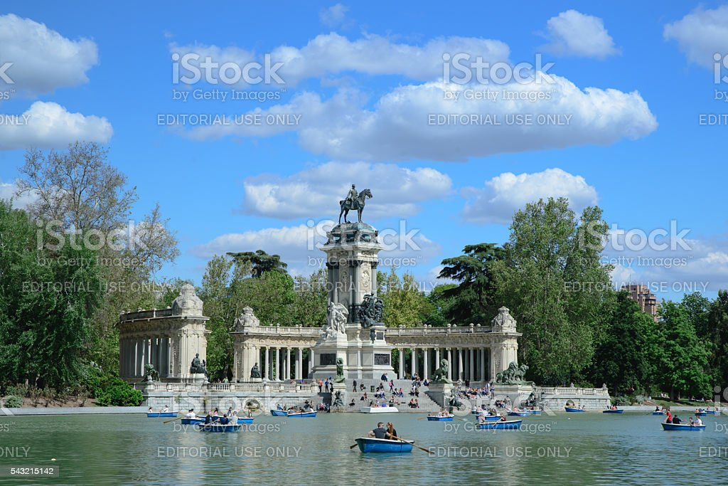 Parque del Retiro in Madrid - Retiro Park stock photo