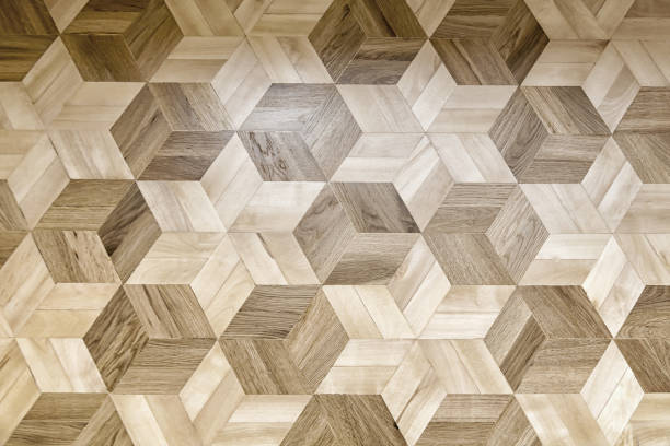 parquet floor texture background - chevron stock photos and pictures