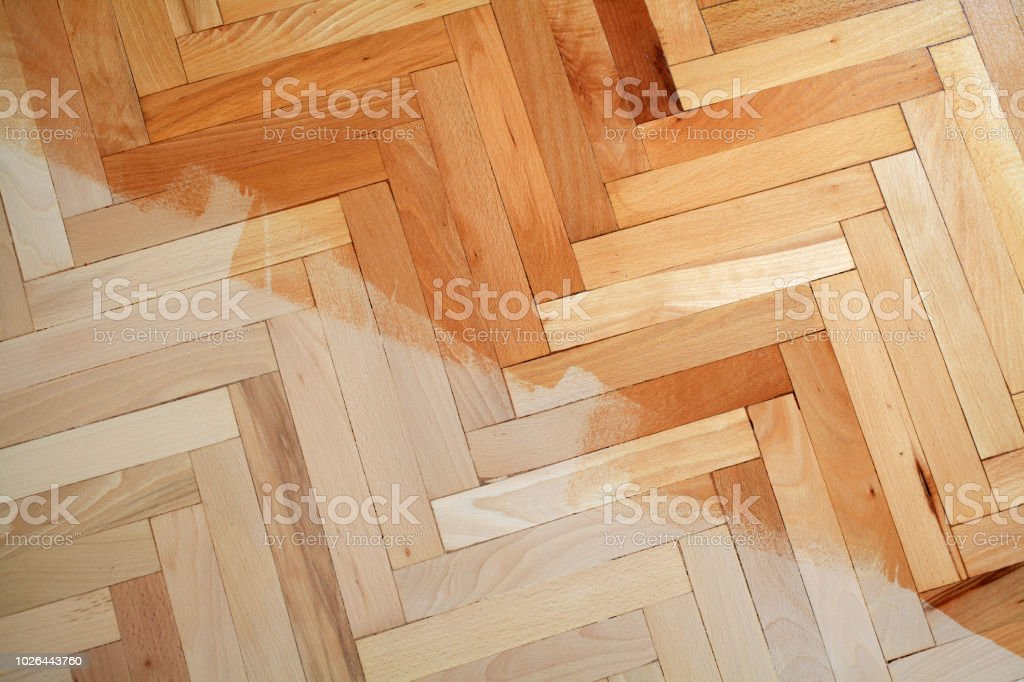 Parquet Floor With A Coat Of Varnish Stock Photo Download Image