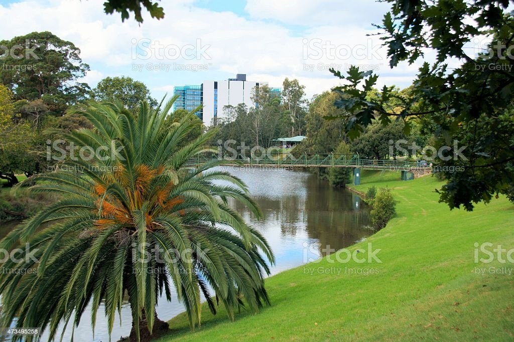 Parramatta River in Parramatta, Australia. stock photo
